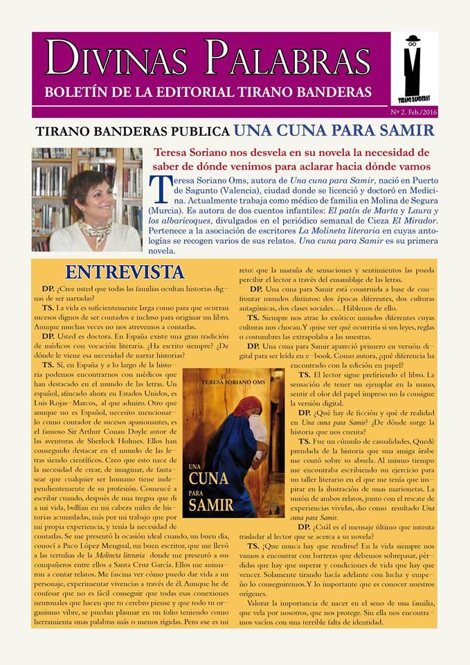 Entrevista a Teresa Soriano Oms en Divinas Palabras
