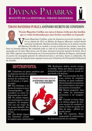 Entrevista en Divinas palabras: Vicente Riquelme