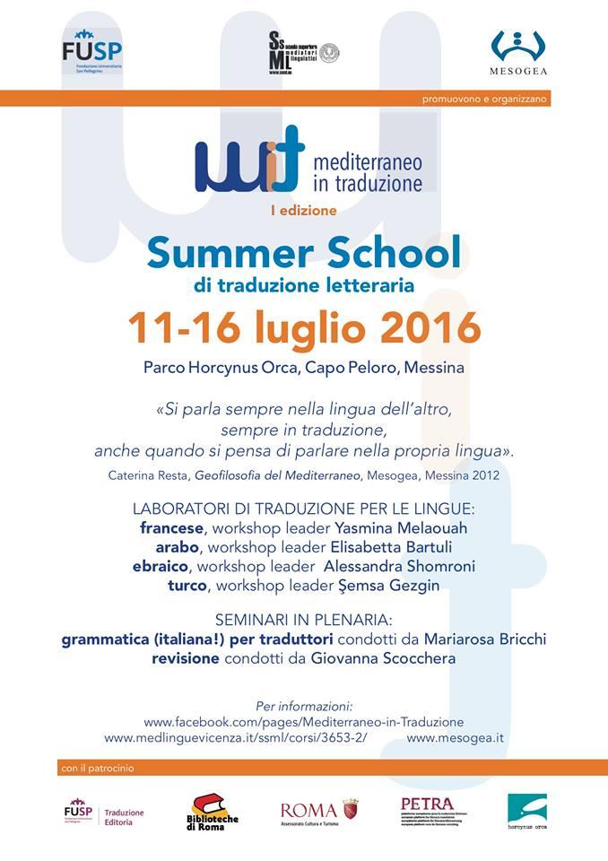 Summer school di traduzione letteraria per arabo, francese, ebraico e turco a Messina