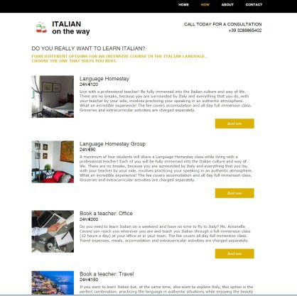Language homestay course http://www.italianontheway.com/