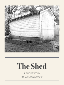 Title page for The Shed by Gail Tagarro Author
