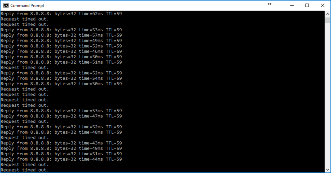 Severe packet loss on Three 4G