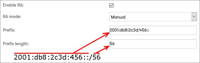 IPv6 prefix example