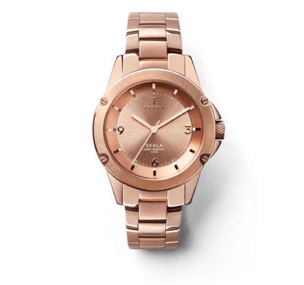 triwa rose gold watch
