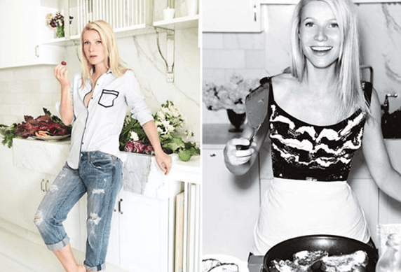 gwyneth paltrow in the kitchen