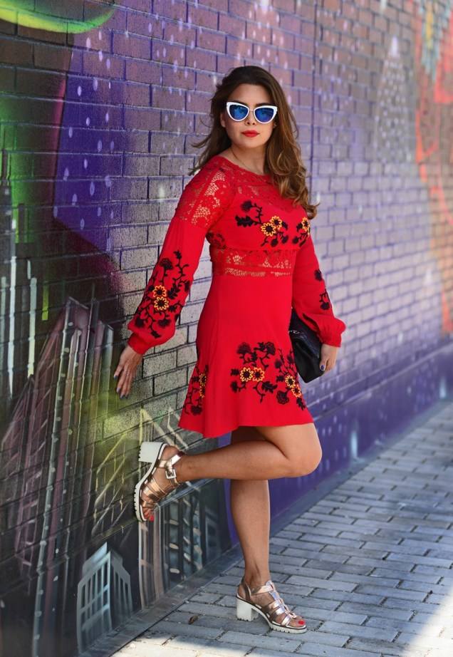 For Love & Lemons dress from the Fitzroy Boutique dress rental service