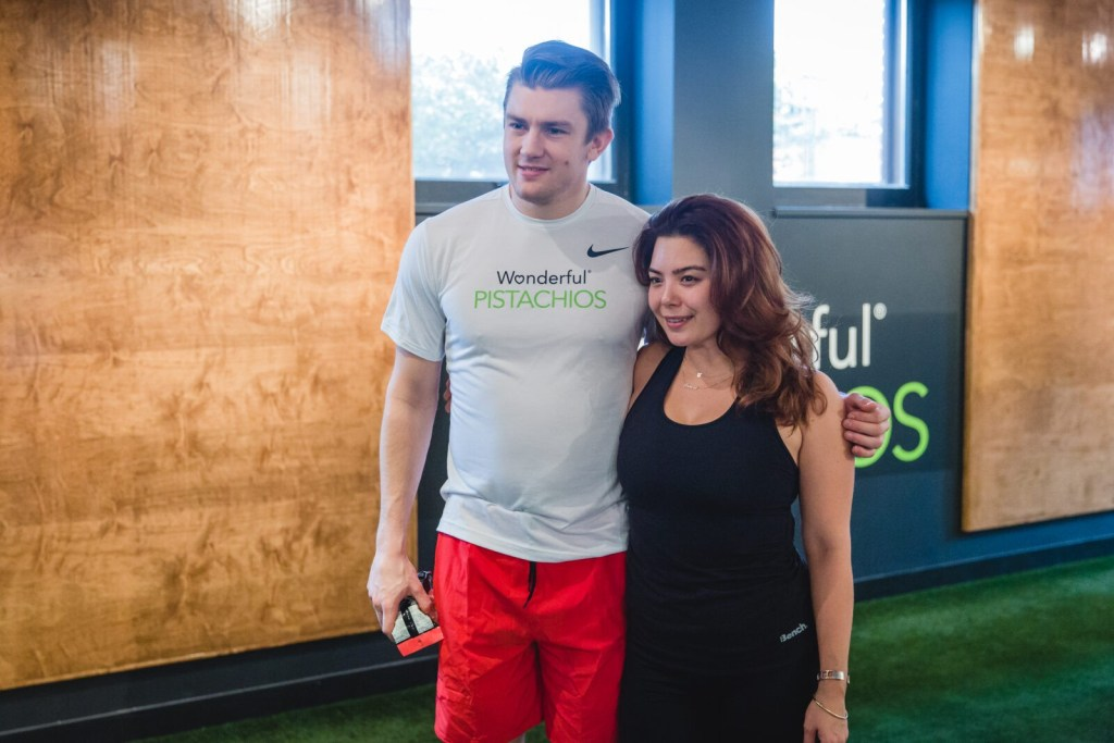 Gracie Carroll - Working Out with James Van Riemsdyk and Wonderful Pistachios