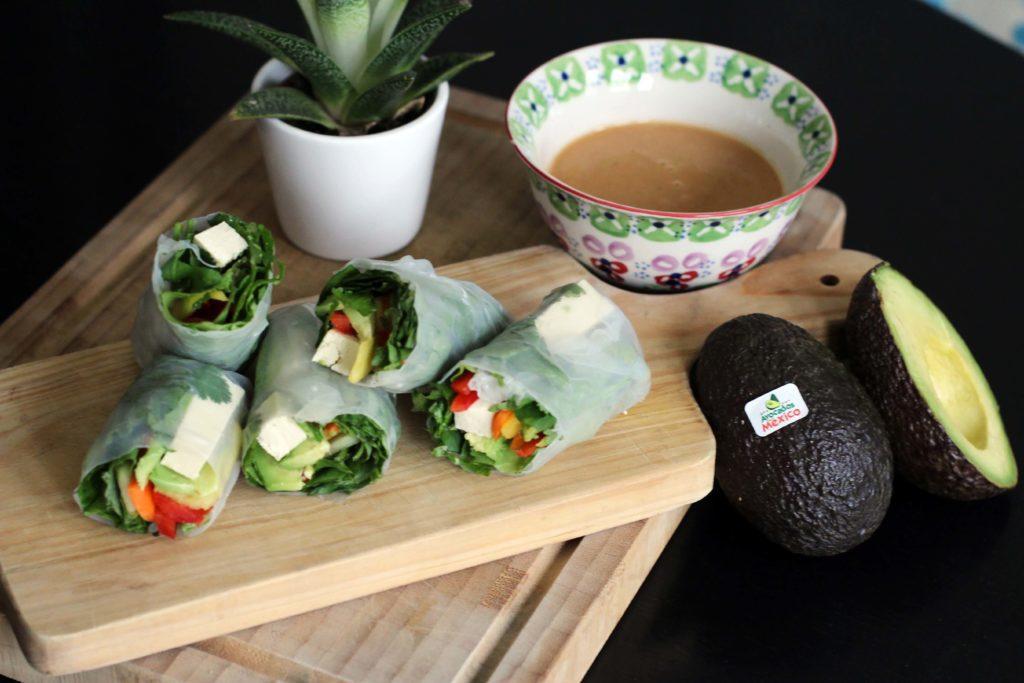 12 Amazing Avocado Recipes - Avocado Fresh Rolls Recipe - Gracie Carroll