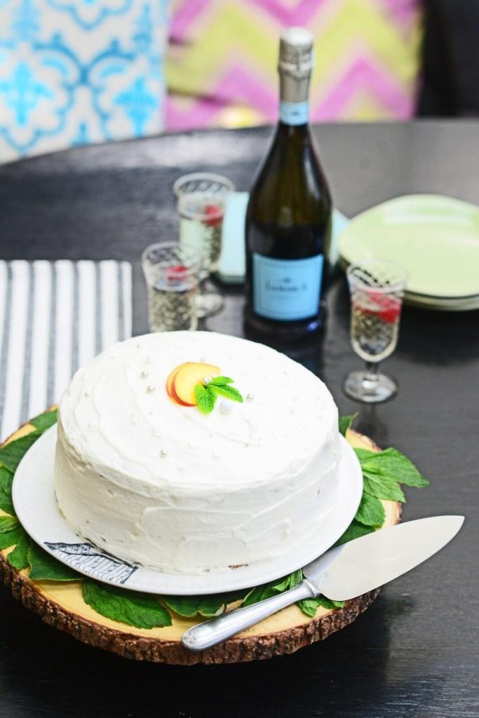 Gracie Carroll - Peaches & Prosecco Cake Recipe - La Marca Prosecco