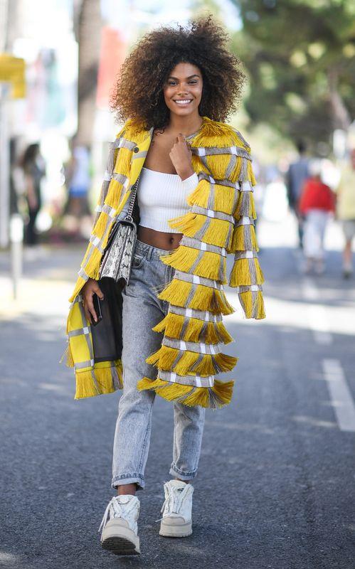 Image result for fringe trend street style 2018