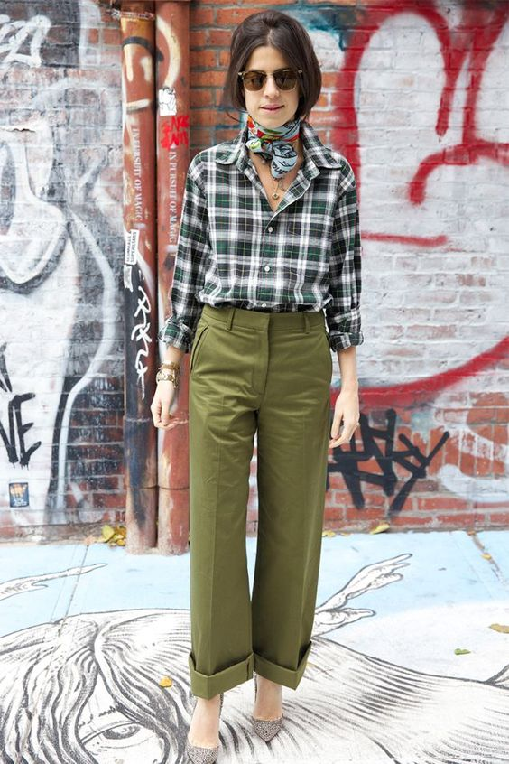 leandra medine stylebook neckerchief neck scarf trend edit seven 2018