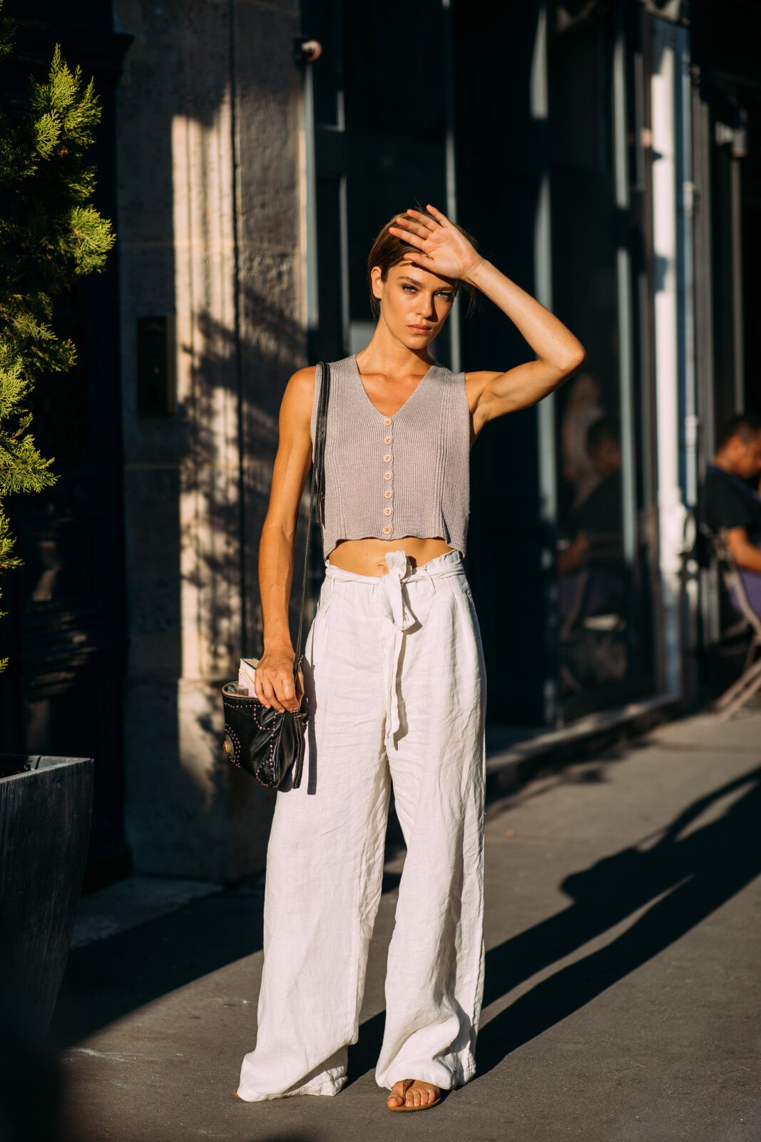 Lisa Louis white trousers edit seven toronto stylebook 2018