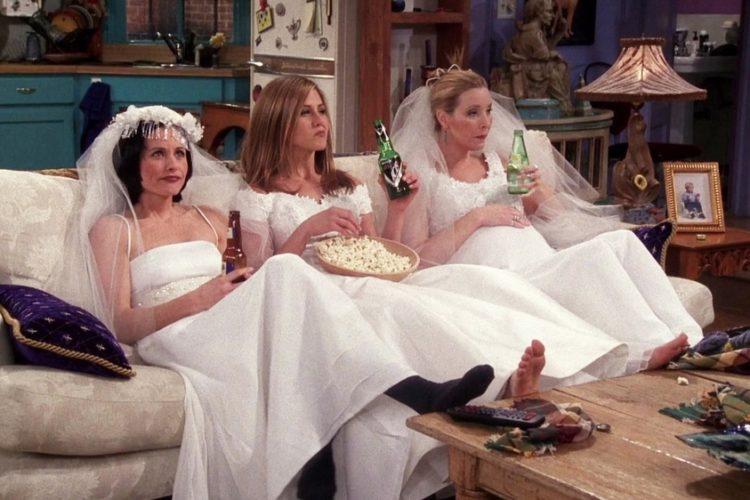 friends wedding dress scene edit seven valentines day