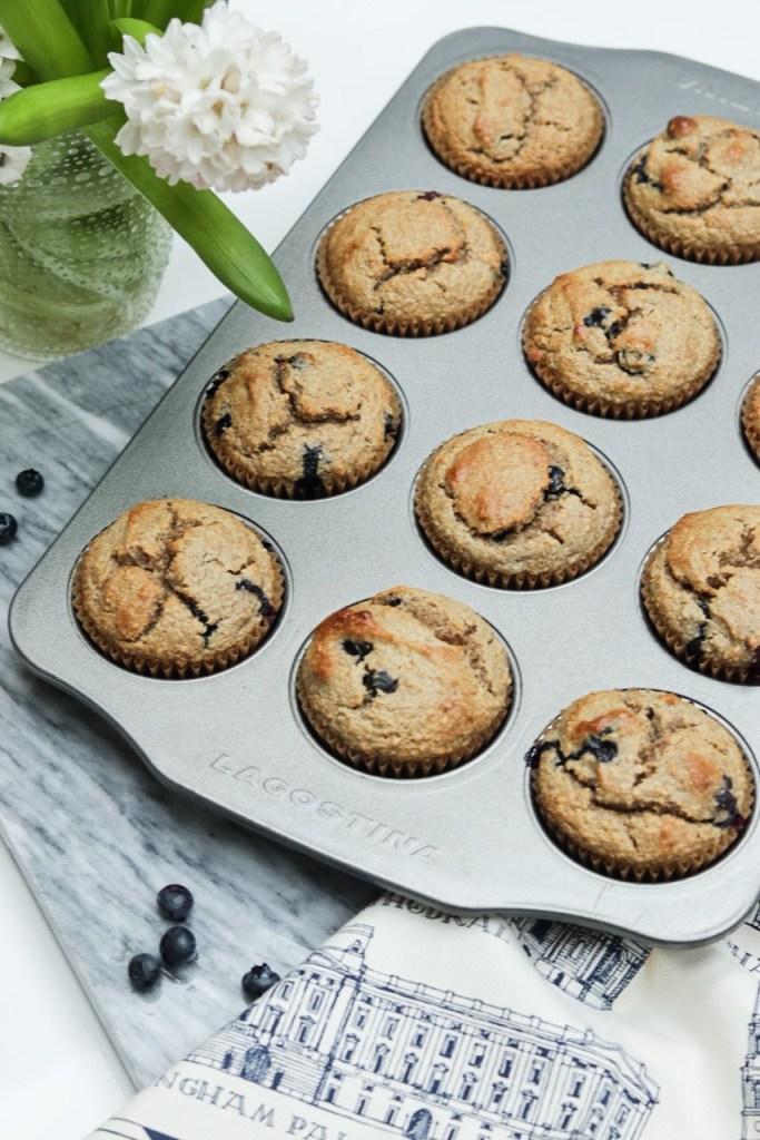 Gluten Free Almond Blueberry Muffins Recipe 1