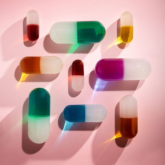 jonathan adler acrylic pills - key vitamins for wellness