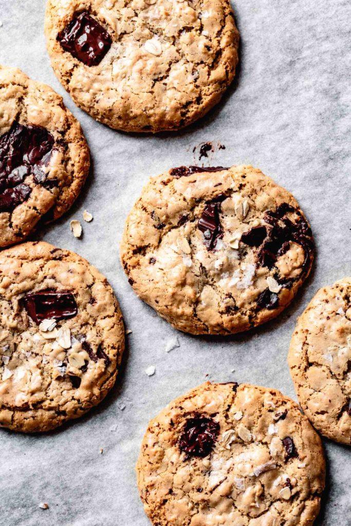 Bojon Gourmet - Salted Tahini Chocolate Chip Oatmeal Cookies recipe