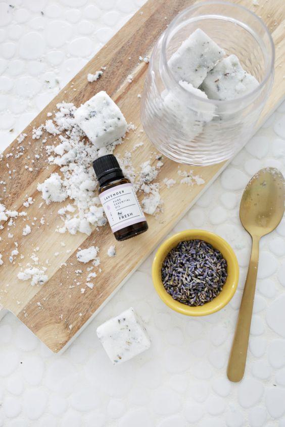 diy lavender sea salt scrub recipe