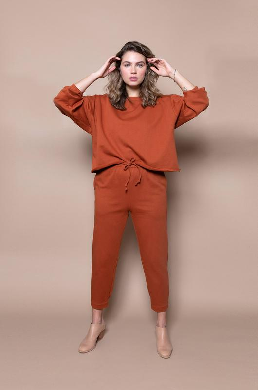 woman wearing loungewear set from Soft Focus