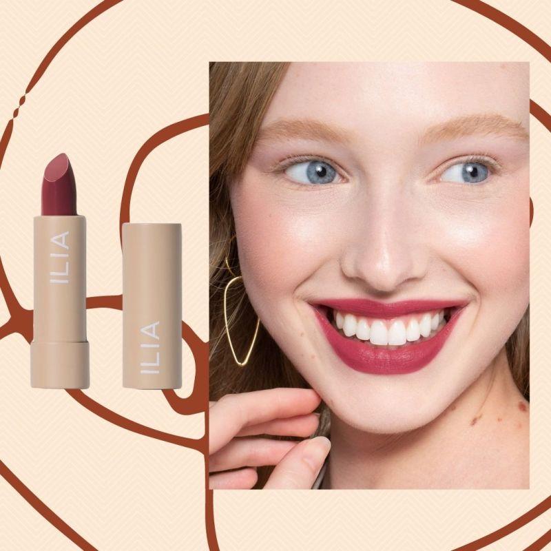 Ilia lipstick in berry shade for spring
