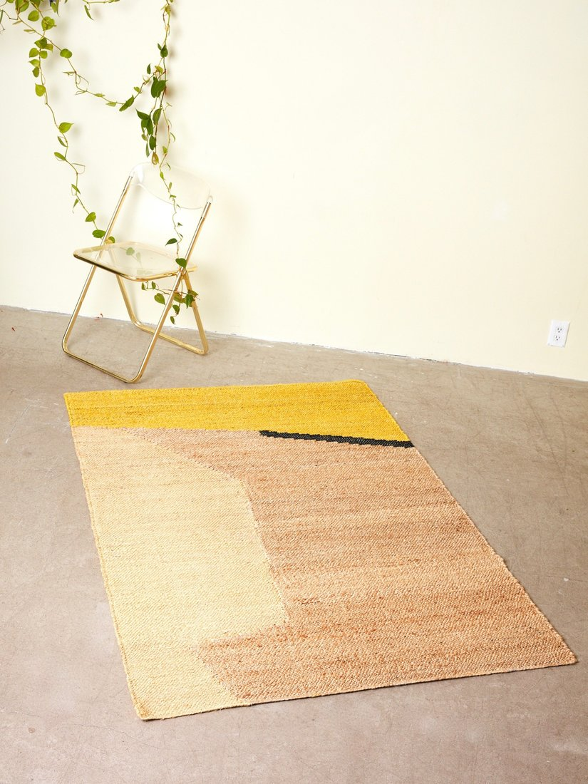 earth-toned rug from Coming Soon New York