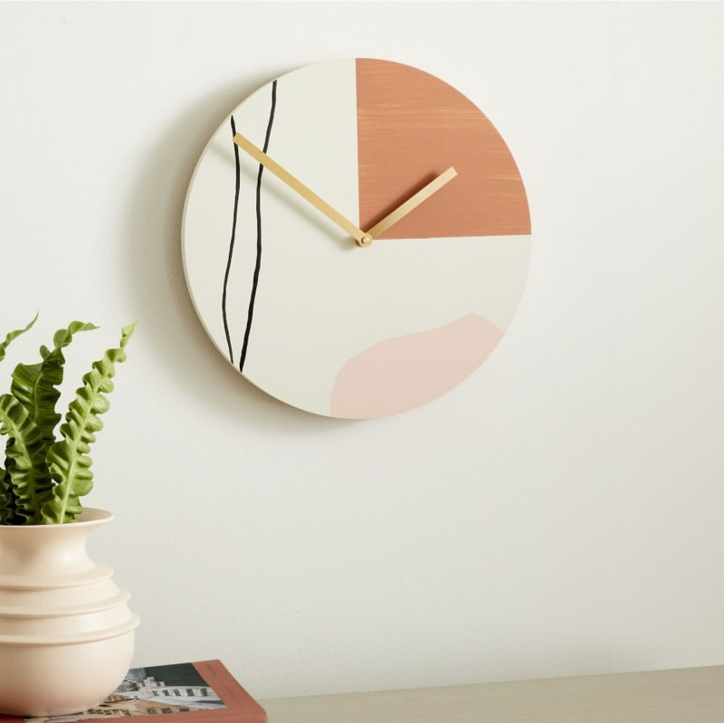 spring home decor wall clock from West Elm