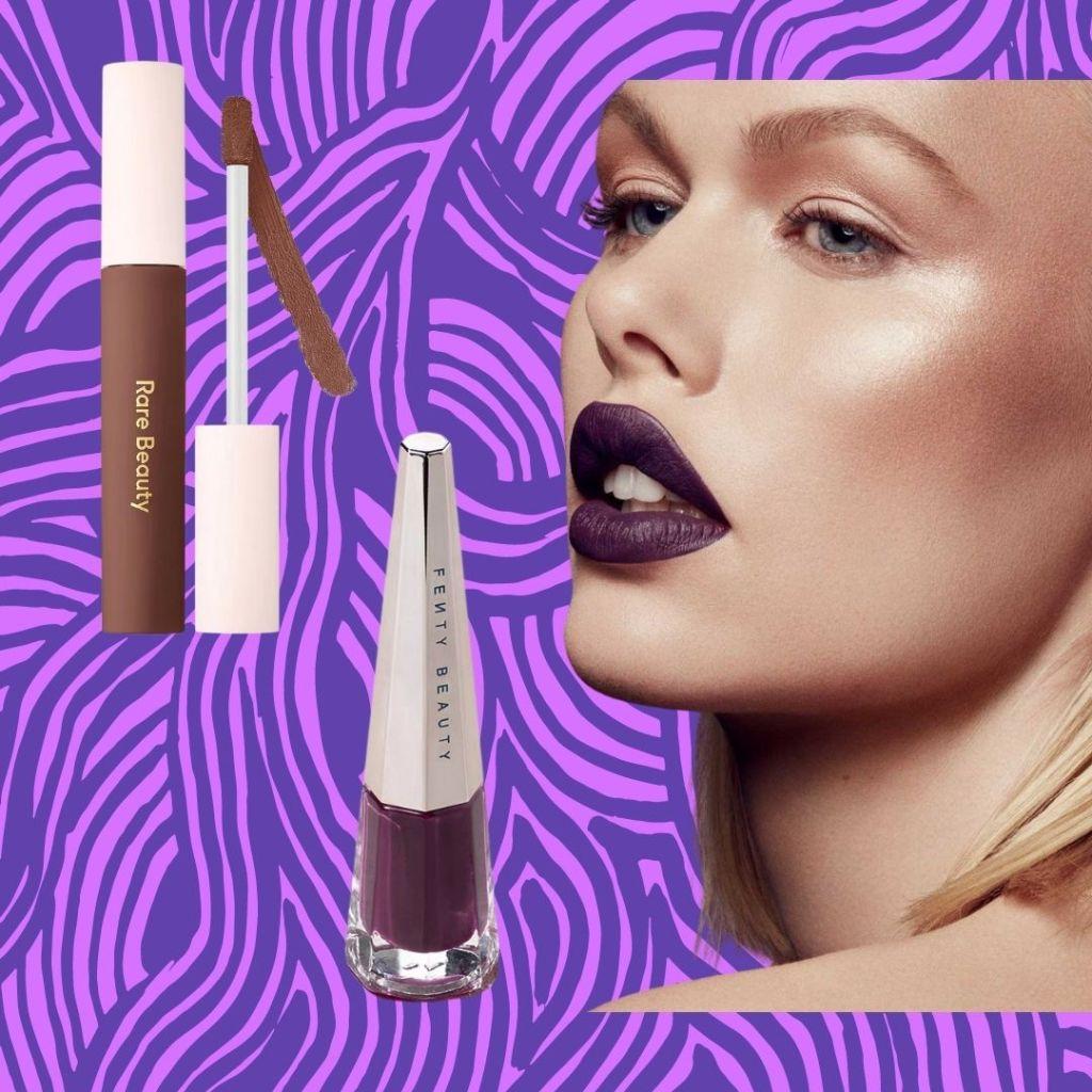 rare beauty and fenty beauty lipsticks