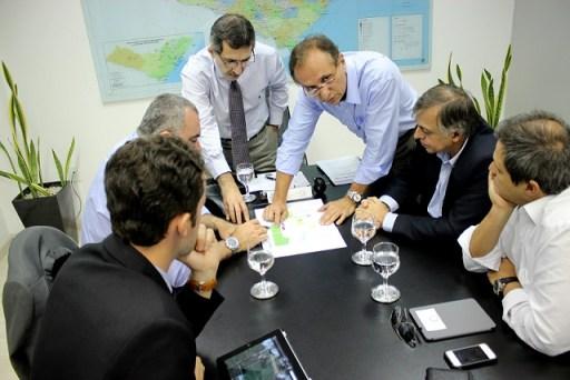 Diretores da Ernergio participam de reunião na Seplande