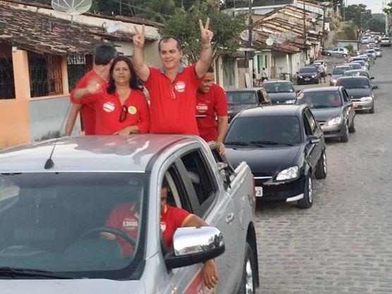 Ronaldo Medeiros em campanha - reprodução Facebook