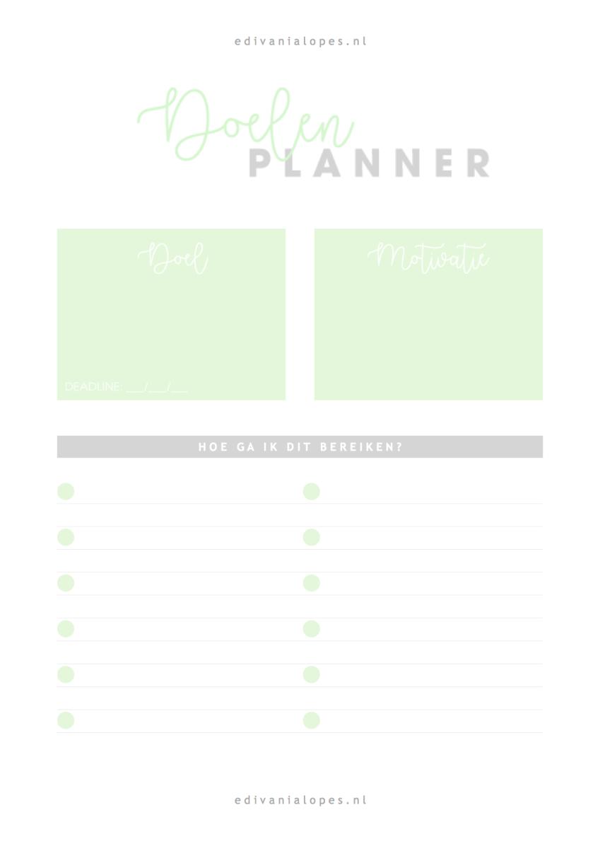 Breinvoer + Doelenplanner - Gratis PDF! Groen