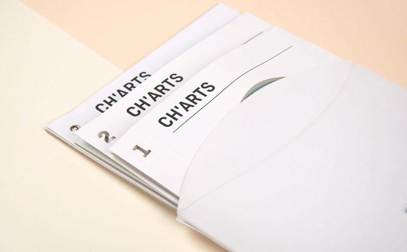 """""""CH'ARTS"""", 3 libretti di grafici e dati con una finestra sulla copertina"""