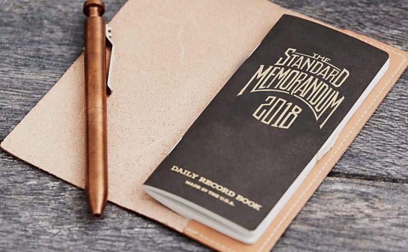 """Anche per il 2018 ecco """"Standard Memorandum"""", l'agenda super retro creata da Jon Contino per Word Notebooks"""