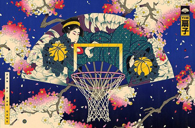 Meraviglia: le star NBA rivisitate secondo lo stile classico giapponese