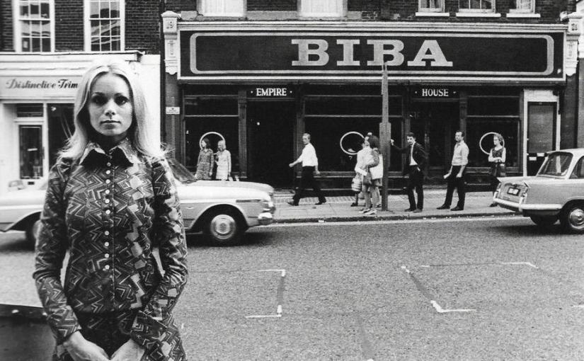 Uno dei brand del più puro stile Sixties di Barbara Hulanicki, è BIBA