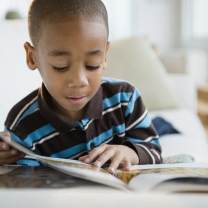 black boy reading