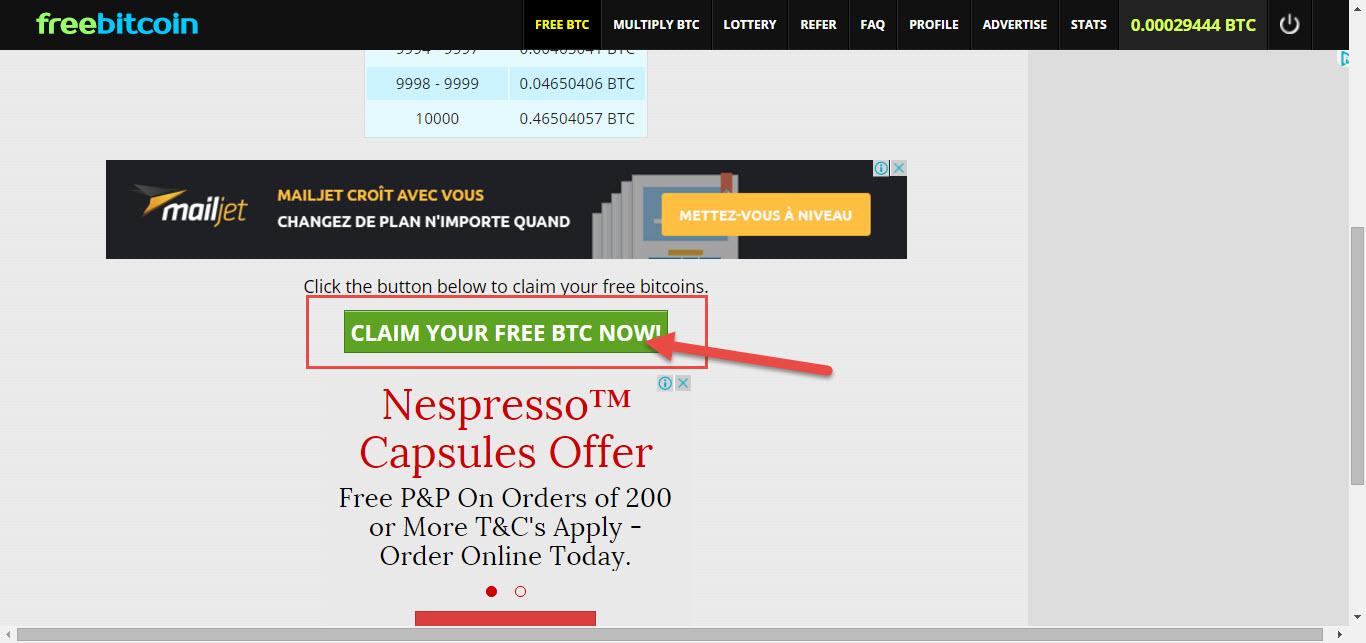 موقع freebitco لربح البيتكوين مجانا