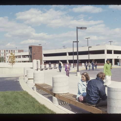 Emens parking garage, 1973, DMR Photo