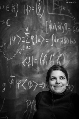 Virginie surrounded by equations. Columbus, Ohio. September, 2012.