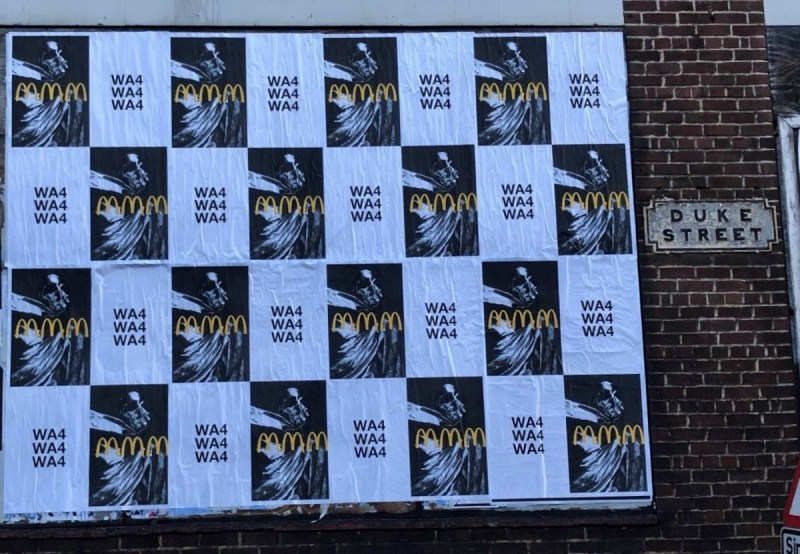 Swedish House Mafia posters bearing the postcode WA4, where Liverpool festival Creamfields takes place.