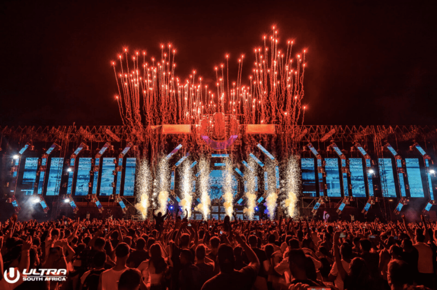Ultra South Africa main stage fireworks.
