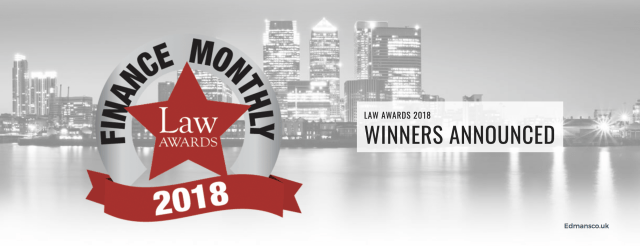 Edmans Co Finance Monthly Law Awards