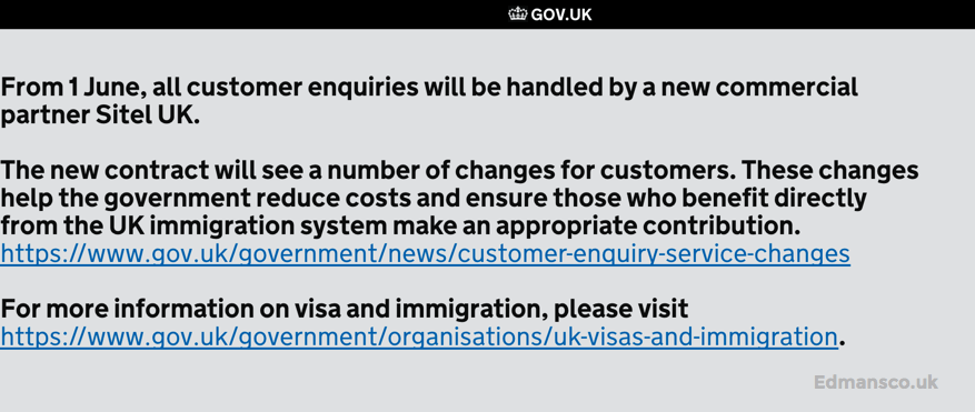 UK Visas and Immigration - UKVI Introduces Charges for Email Enquiries