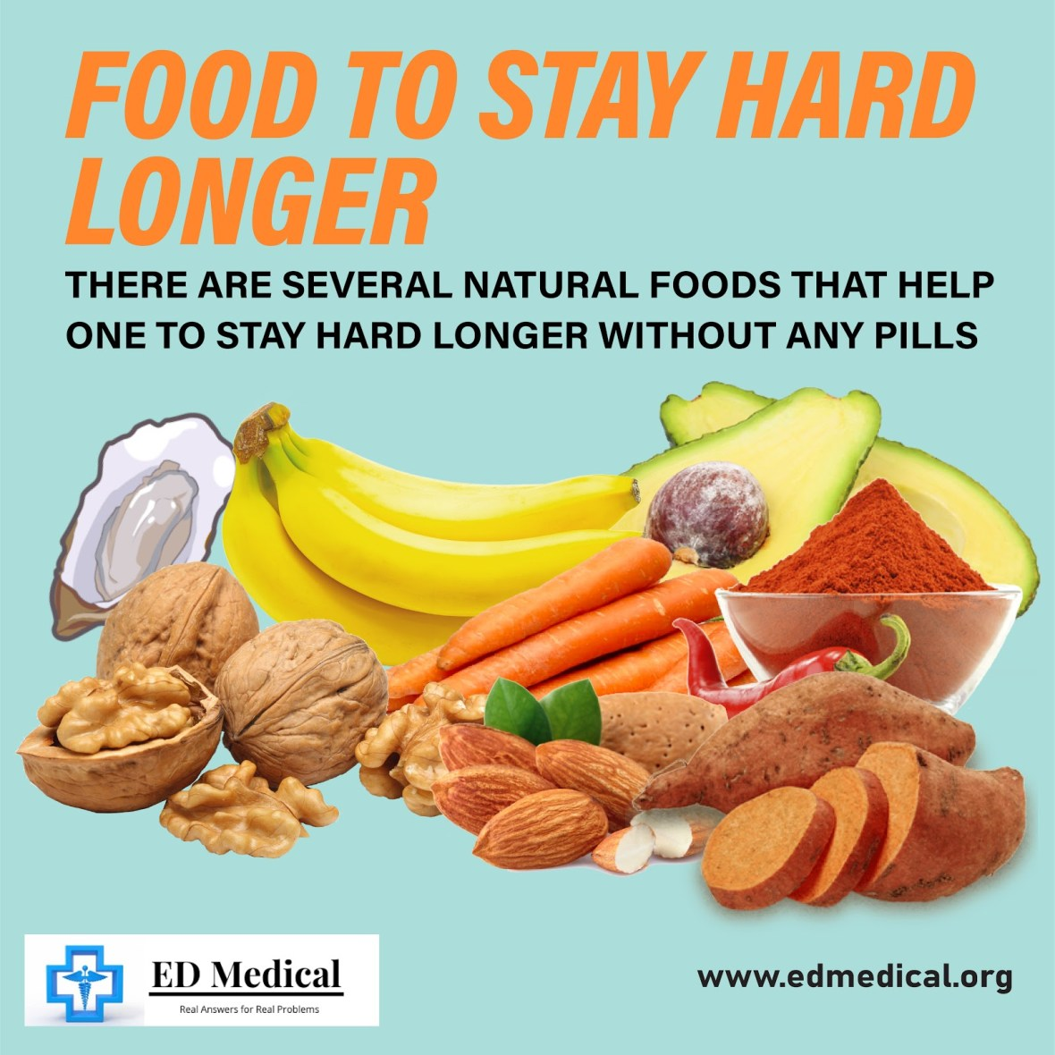 Foods to stay hard and long