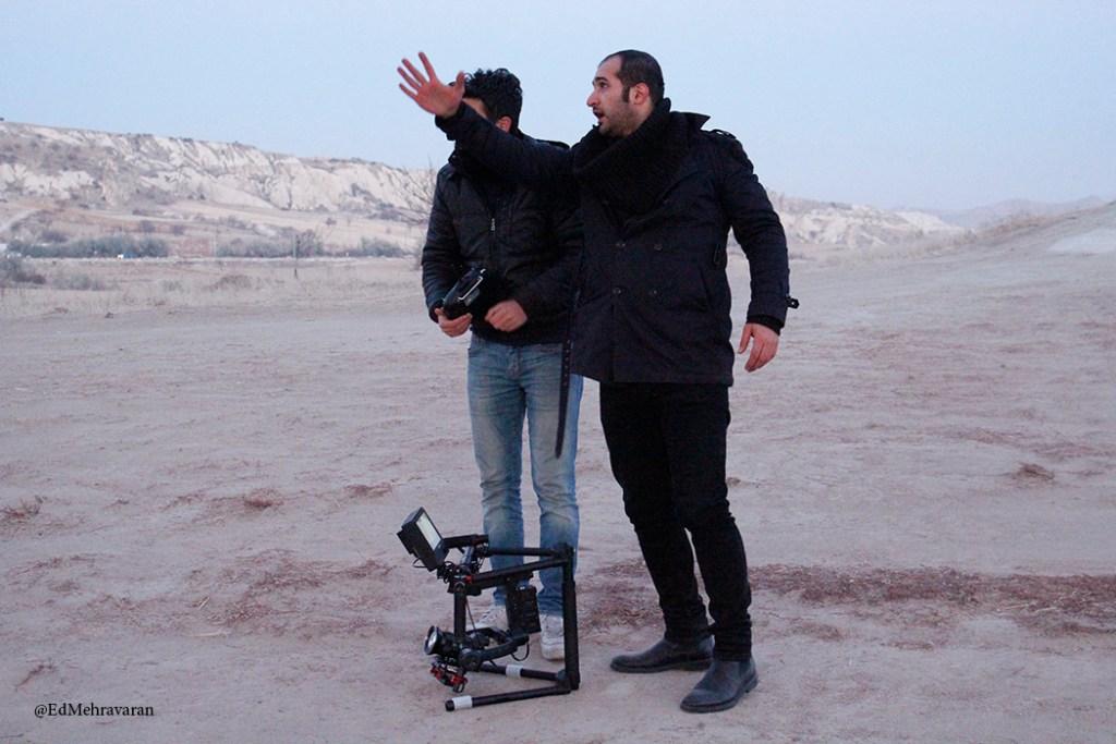Ed Mehravaran making music video in Cappadocia