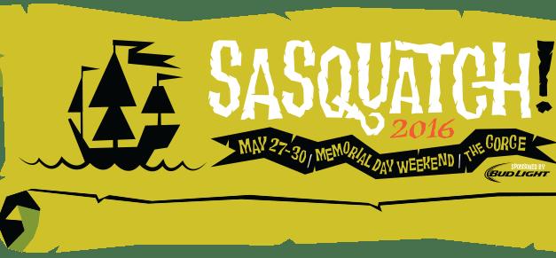 Sasquatch 2016 || Lineup Announced!