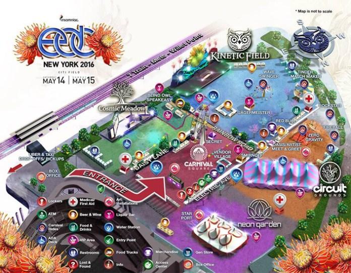 EDC New York 2016 | Festival Map Delivered | EDM Identity