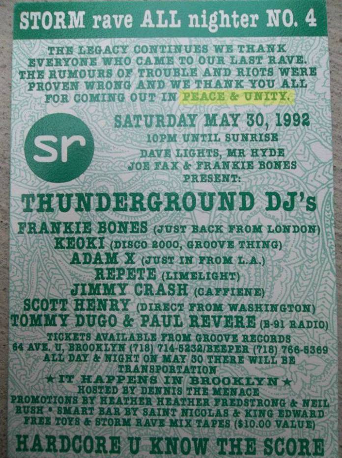Frankie Bones Storm Rave Flyer