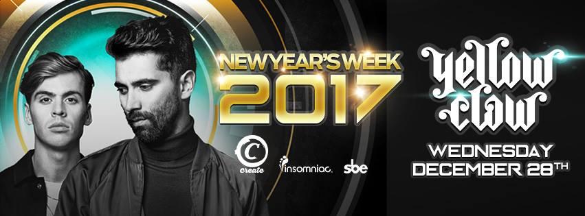 Yellow Claw Create NYE Week 2017