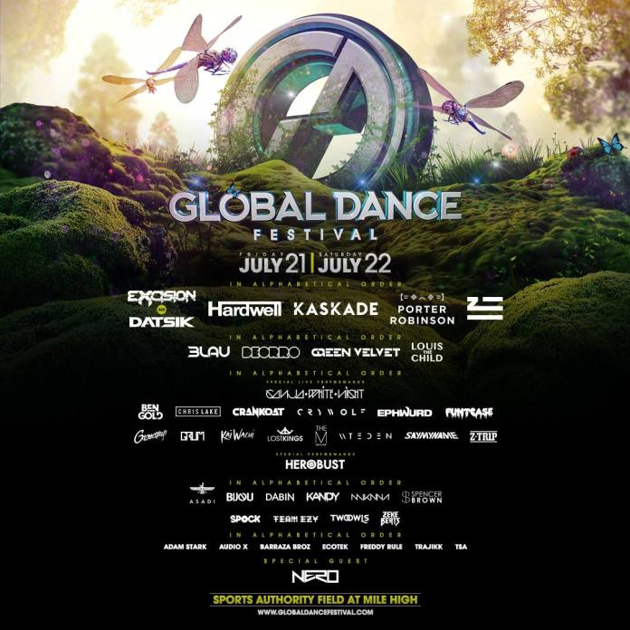 Global Dance Festival Colorado 2017 Lineup