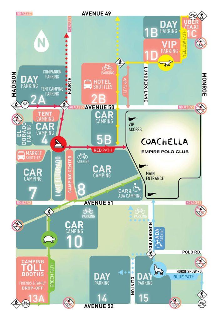Coachella 2017 Parking Map