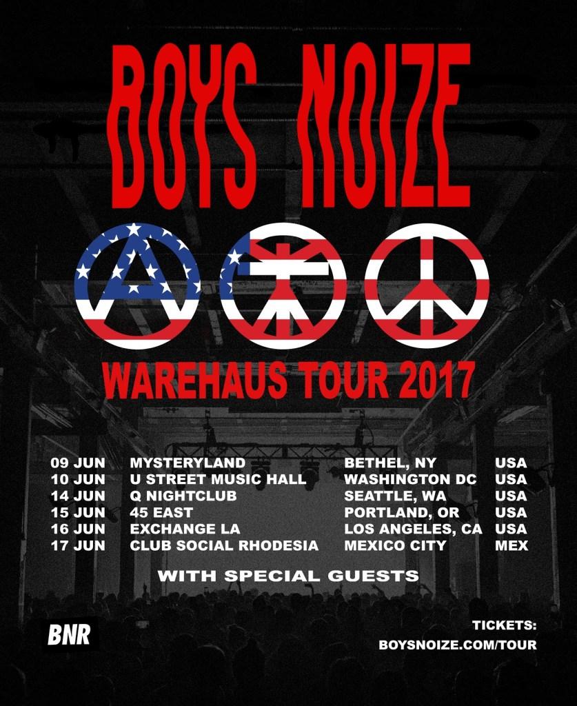 Boys Noize Warehaus Tour 2017